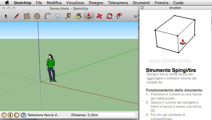 SketchUp su Mac Os X Mountain Lion